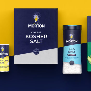 MORTON SALT POURS OUT MODERN NEW LOOK ON PACKAGING
